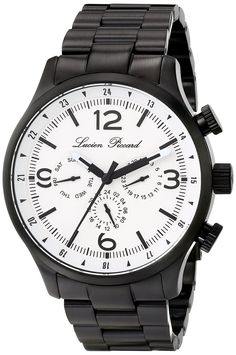 Lucien Piccard Men's LP-13013-BB-22 Avalon Analog Display Swiss Quartz Black Watch * Read more reviews of the watch by visiting the link on… Lucien Piccard, Watches For Men, Wrist Watches, Chronograph, Lp, Quartz, Display, Image Link, Accessories