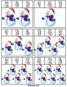 Snow Activities, Winter Activities For Kids, Autism Activities, Christmas Activities, Kindergarten Math, Preschool Activities, Winter Theme, Kids Learning, Wooden Snowmen