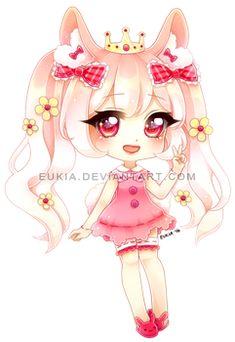 Commission for pand-uu. C: pand-uu Chibi Kawaii, Cute Anime Chibi, Kawaii Cute, Kawaii Girl, Cute Animal Drawings Kawaii, Kawaii Drawings, Cute Drawings, Chibi Girl Drawings, Dibujos Anime Chibi