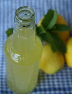 Lemon & Mint Cordial - Super easy and sounds Yum.  A must for summer