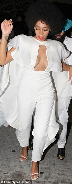 Solange Knowles breaks out into red facial lumps on wedding day #dailymail
