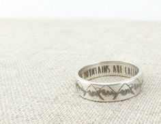 Hey, I found this really awesome Etsy listing at https://www.etsy.com/listing/248622900/inspirational-ring-mountain-ring