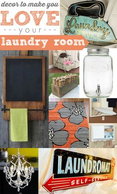 Show your laundry room some love and a whole new life with these great decor ideas by Remodelaholic #spon #laundry #decor