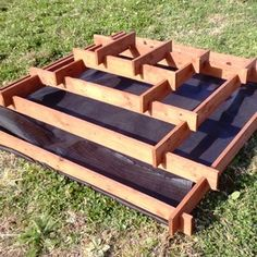 Pyramid garden planter from the reclaimed Pallet timbers