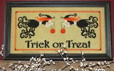 Trick or Treat is the title of this cross stitch pattern from Needle Bling Designs.