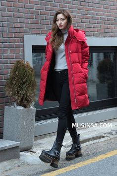 #MUSINSA winter street model style 2016