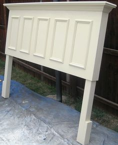 King Size Headboard Made From An Old Door