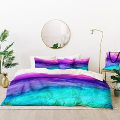 Sewn from polyester fabric, the Jacqueline Maldonado the Sound Duvet Set by Deny Designs boasts a fade-resistant design. This duvet set has a soft,.