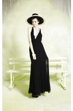 alberta long halter dress | Alice + Olivia | dresses