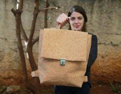 Cork Backpack, Eco friendly, City Backpack, Vegan Travel Bag, Gift Idea for Women, Cork Bag, Handbag, Carry all Bag, Womens Rucksack