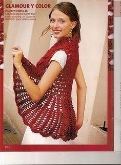 free crochet pattern circular shrug