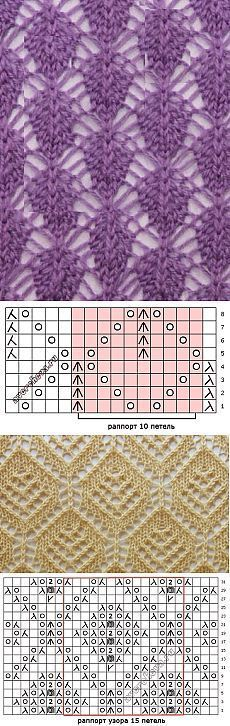 52 Ideas For Knitting Tutorial Stitches Tricot Lace Knitting Stitches, Crochet Stitches Patterns, Knitting Charts, Lace Patterns, Loom Knitting, Knitting Designs, Knitting Patterns Free, Baby Knitting, Stitch Patterns