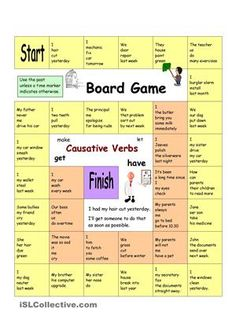 Board Game - Have Something Done (Causative verbs)