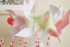 Loosh Creations: Light Pink and Green Baby Shower Details Name Day, Pinwheels, Pink And Green, Party Time, Shower Ideas, Parties, Party Ideas, Baby Shower, Future