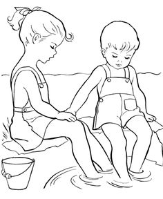 Summer Wading Coloring Pages