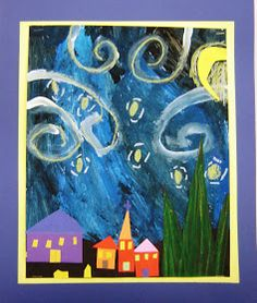 For the Love of Art: 2nd Grade: Starry Night