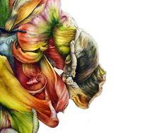 Parrot Tulip fine art botanical print 8x11 by BlueShedStudio