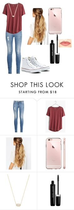 """Basketball games"" by tessajeane ❤ liked on Polyvore featuring STELLA McCARTNEY, Madewell, Converse, Johnny Loves Rosie, Kendra Scott, Marc Jacobs and NYX"