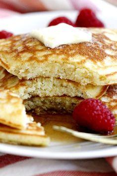 Fluffy Coconut Flour Pancakes | girlversusdough.com @girlversusdough #glutenfree #breakfast #recipe