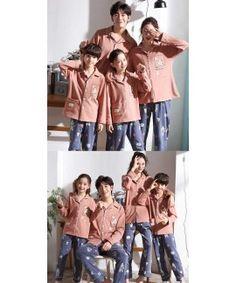 Parent-child pajamas long-sleeved trousers family wear cartoon home service Mens Silk Pajamas, Cotton Pyjamas, Summer Pajamas, Boys Pajamas, Kids Board, Elegant Woman, Kids And Parenting, Trousers, Cartoon