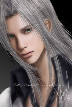 FF VII - Sephiroth by Epsilon86 on deviantART // He looks so young in this depiction...