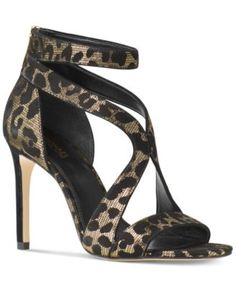 MICHAEL Michael Kors Harlen Strappy Open-Toe Dress Sandals $140.00 A contemporary strappy design and chic leopard print bring fierce of-the-moment appeal to these Harlen dress sandals from MICHAEL Michael Kors.