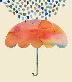 Rainbow Umbrella Art Print (2012) by Kanika Mathur