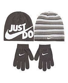 be10f9b4481 Nike Big Boys 2-Pc. Reversible Beanie Hat   Gloves Set