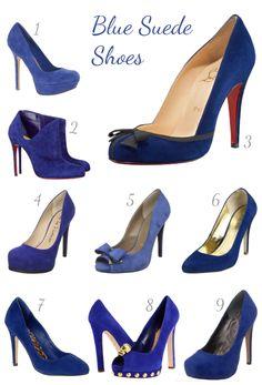 Blue suede shoes!