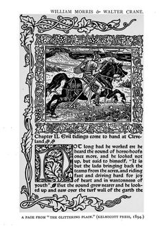 A lot of decoration! Page 37 Of the decorative illustration of books old and new by Walter Crane. Published 1896 by G. Bell in London, New York . Walter Crane, Wonder Book, Lightning Strikes, Japanese Prints, Arts And Crafts Movement, Illuminated Manuscript, William Morris, Book Design, Art Nouveau
