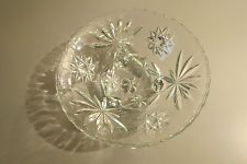 Vintage Anchor Hocking STAR OF DAVID Prescut 3 Footed Candy/Nut - Dish/Bowl