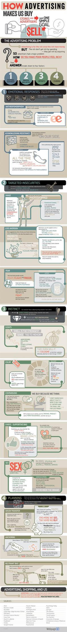 How Advertising makes Us Buy Infographic #Infographics