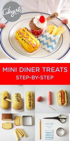 Twinkies turned into hot dogs! Fondant Cake Tutorial, Fondant Cakes, Cupcake Cakes, Fondant Bow, 3d Cakes, Fondant Flowers, Fondant Figures, Cupcake Recipes, Dessert Recipes