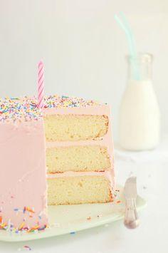 sprinkl, pink cakes, vanilla cake, layer cakes, first birthdays, 1st birthday cakes, 1st birthdays, pink birthday, cake recipes