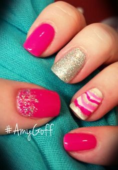 #gelish #nailart done by me #AmyGoff