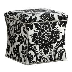 Skyline Furniture Fiorenza Fabric Storage Cube Ottoman