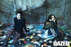 Choi A Ra and Hong Jong Hyun by Kim Ji Yang for Dazed and Confused Korea Jan 2011 Han Hye Jin, Hong Jong Hyun, Dazed And Confused, Korean Model, Long Tops, Punk, Fictional Characters, Fantasy Characters, Punk Rock