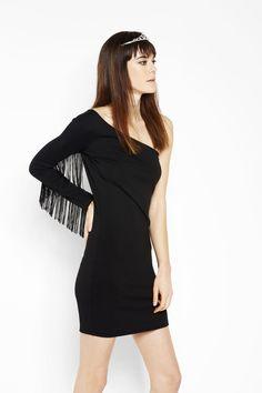Let's party dress! Asimmetrie notturne contaminate da frange folk anni '70.  #OVS #OVSaw15