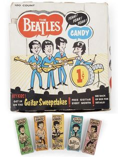 The Beatles Candy--Somehow, in alllll my trips to the neighborhood candy store when I was a kid, I managed to miss this too!!! SMH at my own self AGAIN :-)  {GM}