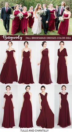 burgundy wedding color ideas with bridesmaid dresses 2019 Burgundy Bridesmaid Dresses Long, Champagne Bridesmaid Dresses, Modest Bridesmaid Dresses, Burgundy Dress, Prom Dresses, Formal Dresses, Maid Of Honour Dresses, Maid Of Honor, Damas Rose