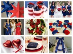 Red, White & Blue mood board