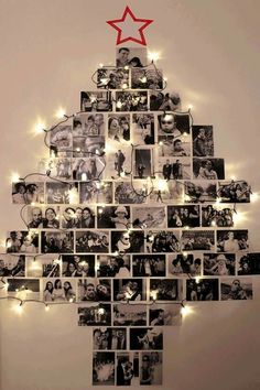 Arbol de navidad en blanco y negro