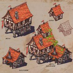 Medieval Kingdom, Damian Bonczyk - Minecraft, Pubg, Lol and Minecraft Medieval Buildings, Architecture Minecraft, Medieval Houses, Medieval Town, Minecraft Blueprints, Minecraft Designs, Minecraft Creations, Minecraft Projects, House Blueprints