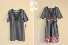 DIY Clothes Refashion:DIY frumpy dumpy three dollar dress