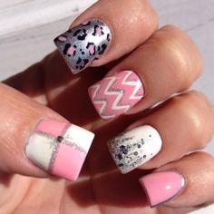 Silver cheetah, pink chevron with pink & white checkerboard #Pink&Pretty