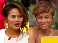 Tyra Banks & Chrissy Teigen Without Makeup On 'FABLife' — See Their NaturalFaces
