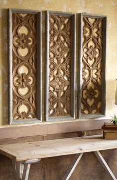 Kalalou Wooden Wall Panels - Set Of 3