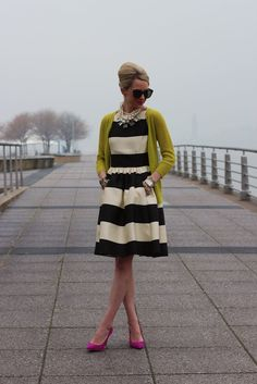 Atlantic-Pacific: happy stripes & accent color sweater (my color would be an emerald green or other jewel tone rather than this citron)