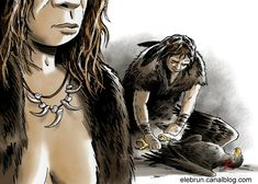Eric Le Brun - Archaeologists have identified in Krapina, Croatia a necklace of eagle talons made by Neanderthals. Other findings suggest that raptors and ravens were highly appreciated by our fascinating cousin. Which means they had symbolic thinking.