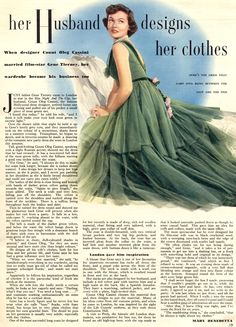 gene Tierney article about her husband oleg cassini